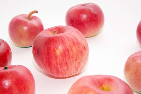 ripe apple as bio food background photo