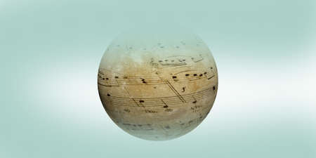 notes on the globe as musical backgroumd Stock Photo - 11035785