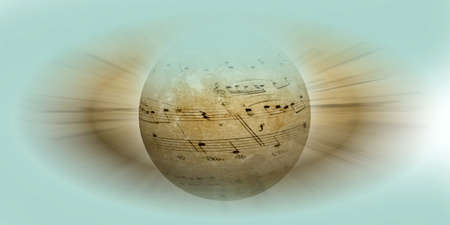 notes on the globe as musical backgroumd