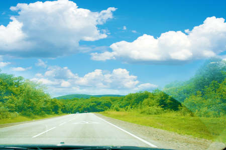 sulight: summer day and road Stock Photo