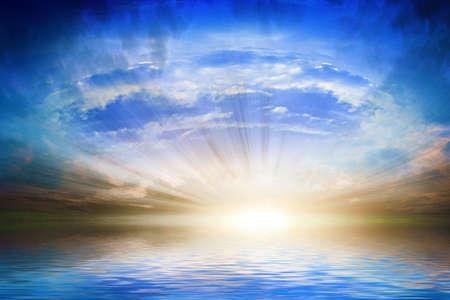 晴れた空の抽象的な背景