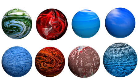 sphere with pattern and texture photo