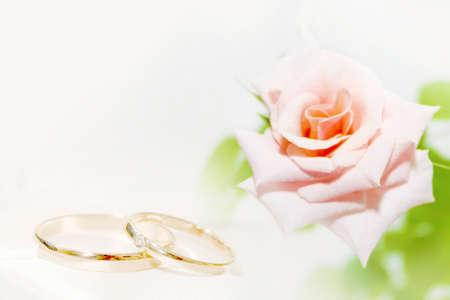 Scena con anelli di nozze Archivio Fotografico - 11343710