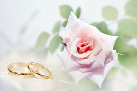 abstract wedding rings as celebration background  photo