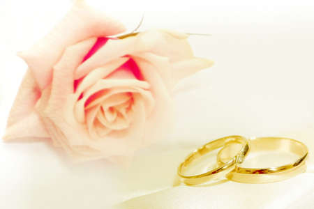 abstract wedding rings as celebration background  Archivio Fotografico