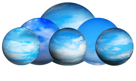 abstract sphere with pattern and texture as background photo
