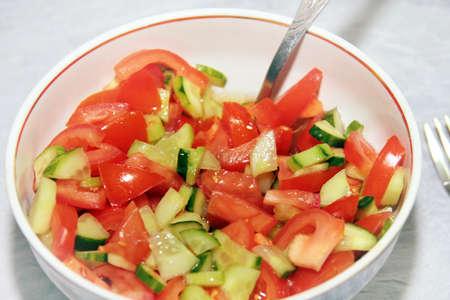 tomato and cucumber photo