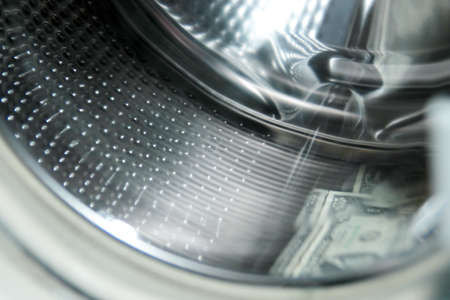 scene dollars in the washing machine photo
