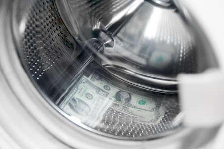 scene dollars in the washing machine photo