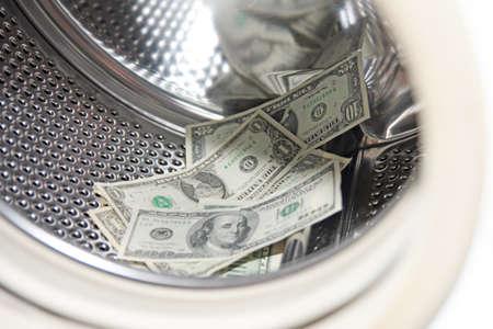 dollars in the washing machine photo