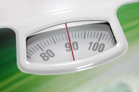 indicator for determination of the weight in floor scales Stock Photo - 13150416