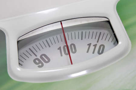 indicator for determination of the weight in floor scales