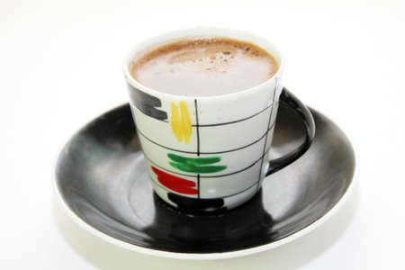 hot coffees: scene with cup of the coffee