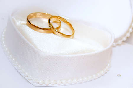 scene two rings as symbol holiday wedding ceremony Stock Photo - 13563654