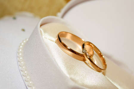 two rings as symbol holiday wedding ceremony photo