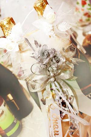 wedding decoration festive table for solemn acceptance photo