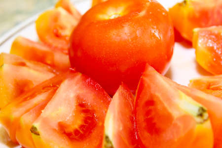 juicy tomato as illustration health image meal Stock Illustration - 13696105
