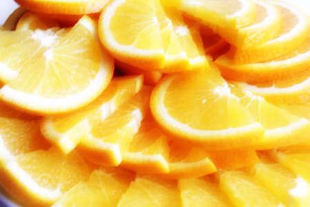 scene of the segment fresh orange as citrus fruit Stock Photo - 15536052