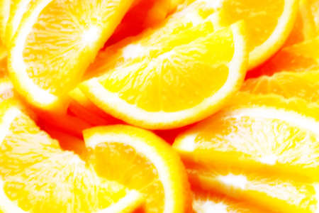 scene of the segment fresh orange Stock Photo - 15541493
