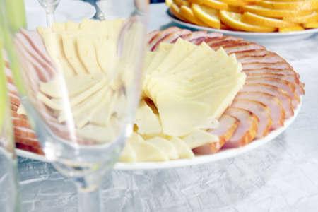 gouda: slices cheese and piece brisket as part festive menu