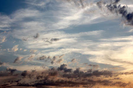 beautiful clouds on air spaces as celestial landscape Stock Photo - 15772990