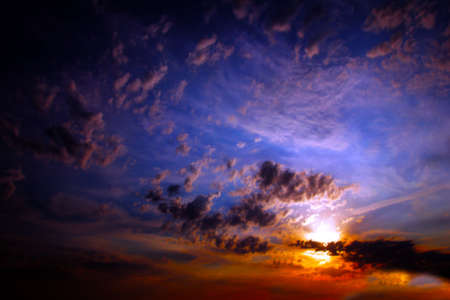 clouds on the dark sky as beautiful celestial landscape Stock Photo - 16233909