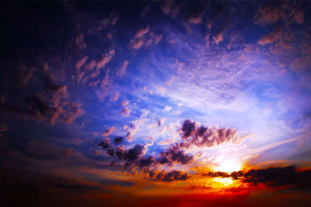 clouds on the dark sky as beautiful celestial landscape Stock Photo - 16233923