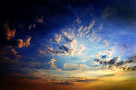 clouds on the dark sky as beautiful celestial landscape Stock Photo - 16234044