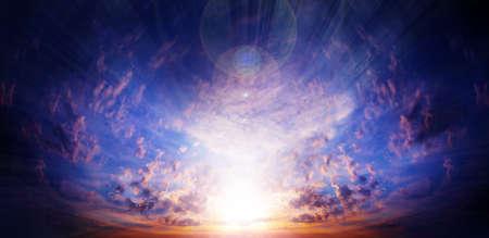 glow clouds on the dark sky as beautiful celestial landscape Stock Photo - 16333141