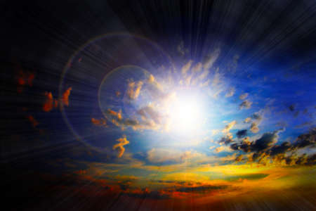 abstract scene glow clouds on the dark sky as beautiful celestial landscape Stock Photo - 16333138