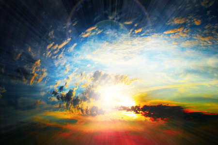 abstract scene glow clouds on the dark sky as beautiful celestial landscape Stock Photo - 16277913
