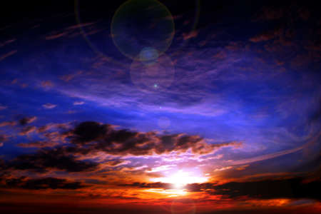 abstract scene glow clouds on the dark sky as beautiful celestial landscape Stock Photo - 16277909