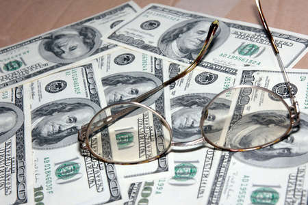 certain: certain amount american dollars and old spectacles