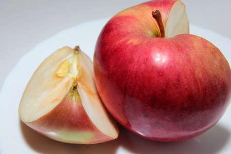 scene beautiful ripe apple as symbol summer Stock Photo - 16460233