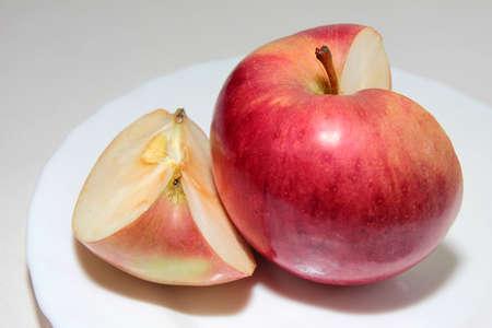 scene beautiful ripe apple as symbol summer Stock Photo - 16460229