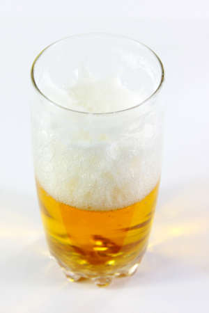 scene air bladder in goblet with beer photo