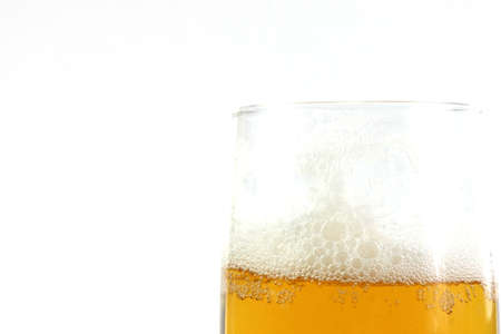 air bladder: astratto aria vescica scena nel calice con la birra Archivio Fotografico