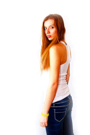 portrait beautiful redheaded girl Stock Photo - 17185411