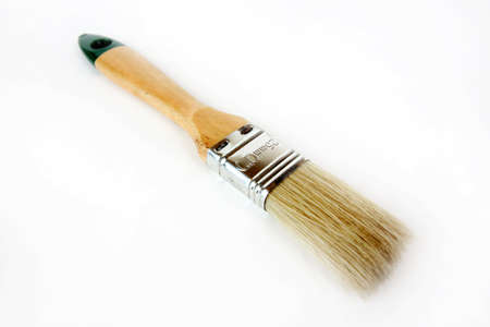 brush for fixing paint on light background Stock Photo - 16933634
