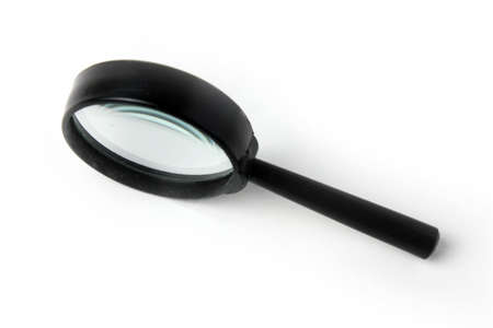 scene magnifying glass as instrument for scientific prospecting Stock Photo - 17115554
