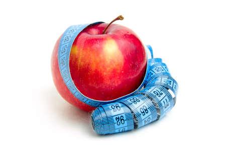 metre: fresh ripe apple and metre as element health