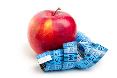 fresh ripe apple and metre as element health photo