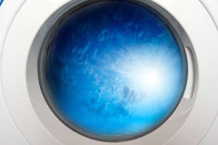 scene door for loading linen and drum washing machine