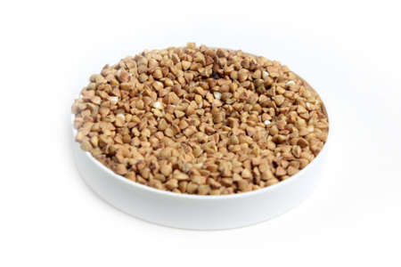 buckwheat groats as element preparation meal photo