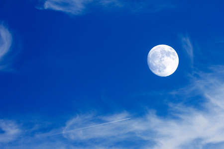 scene moon on the sky as symbol outer space photo