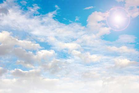 cloud on the solar sky as symbol of the year term season photo