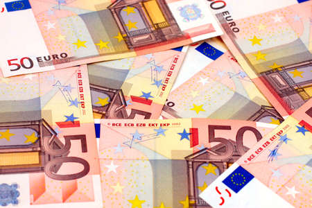 Paper notes are euro as element of the pay system