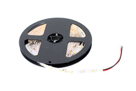 led strip tape convolute on the plastic spool photo