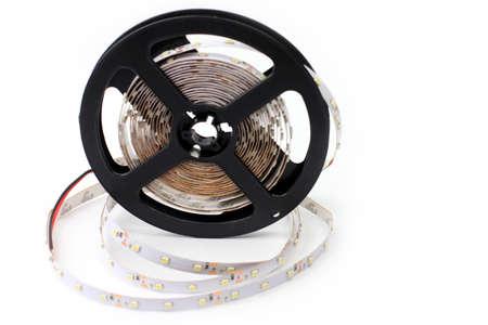 convolute: scene led strip tape convolute on the plastic Stock Photo