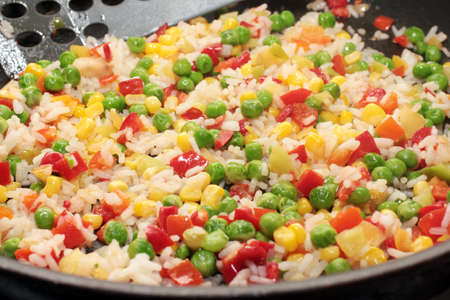 cooking food from a mixture of finely chopped vegetables photo